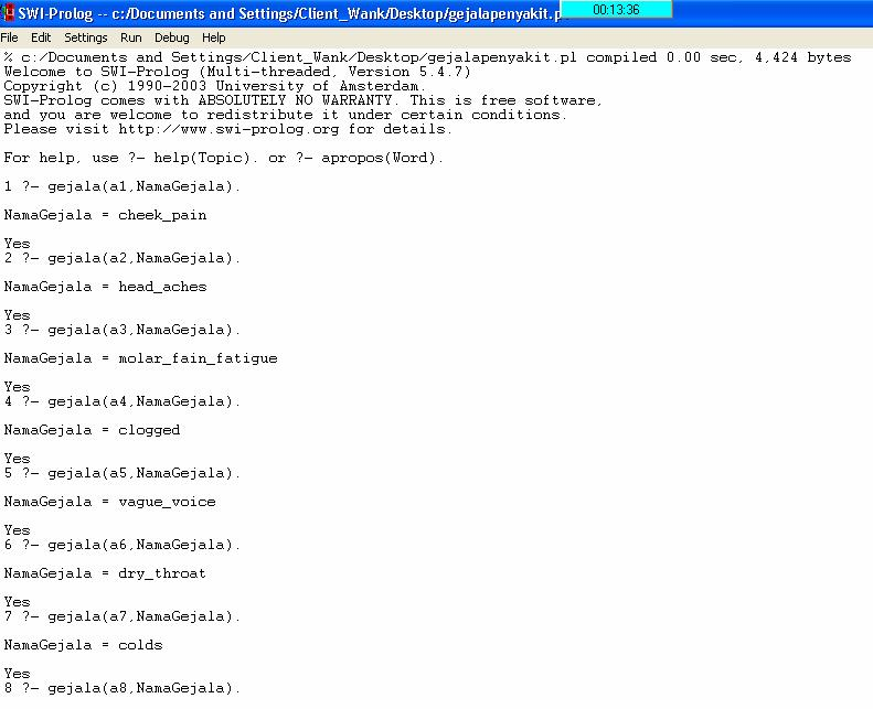Apply Expert System Using Prolog 2 | Boolean's Blog